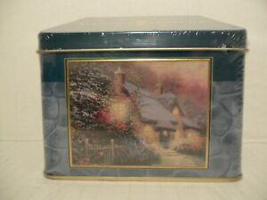 "THOMAS KINKADE Limited Edition 100 Piece 9""x7"" Puzzle Glory Of Evening Tin Box"