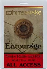 WHITESNAKE 1990-91 LIQUOR & POKER WORLD TOUR  LAMINATED BACKSTAGE PASS
