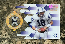Peyton Manning RC 1998 Playoff Momentum Endzone X-Press Die Cut #R11 Vols, Colts