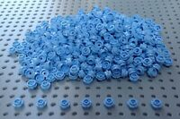 Lego Mid Blue 1x1 Round Stud Flower Plate (24866) x50 *BRAND NEW* City Friends