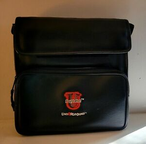 Sony PlayStation Underground Black Leather Bag Carrying Case - Great Condition!