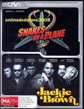 SNAKES ON A PLANE / Jackie Brown (Samuel L. JACKSON) Movie Pack (2 DVD SET) NEW
