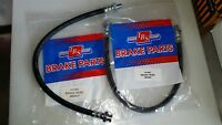 NEW PAIR OF FRONT BRAKE HOSES HOLDEN HX & HZ  .. WITH DISC BRAKES .. H1103