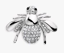 Bee Brooch. Great Gift idea! Women's Jewelry - Jeweled Silver Bumble