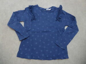 T-shirt manches longues bleu à pois Zara - 4 ans