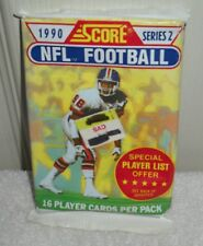 #9750 Score 1990 Series 2 NFL Football Trading Card Pack 16 Cards Per Pack