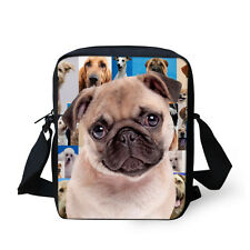 Teens Girls Shoulder Bag Handbag Purse Messenger Hobo Bag Pretty Pug Dog Satchel