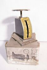 small VINTAGE THE CHALLENGE SPRING LETTER BALANCE boxed SCALES