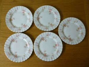 "5 Royal Albert Peach Rose 6.25"" Side Plates"