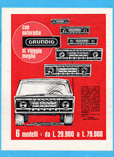 QUATTROR968-PUBBLICITA'/ADVERTISING-1968- GRUNDIG - AUTORADIO