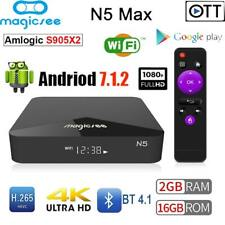 N5 TV Box 4K Android 7.1 Amlogic S905X2 Quad Core 2G+16G WiFi BT4.1 Media Player
