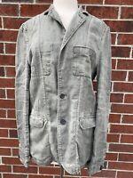 Allsaints Spitalfields Mens Eton Blazer 100% Linen Size S EUC