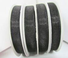 "25 yards Roll High Quality Organza Sheer 3/8"" Ribbon/Wedding/Favors Or38-Black"