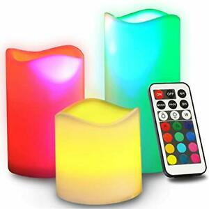 Novelty Place Flameless Candles with Remote Control - LED Pillars Candle