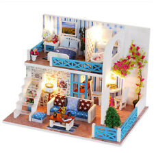 DollLabs Miniature Dollhouse DIY Mini House Kit with Furniture for Gift Set