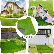 Bluecho Artificial Grass Rug, Fake Grass Turf Mat Synthetic Thick Lawn Carpet, F