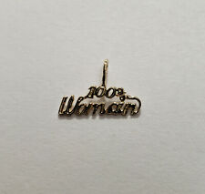 New 14k Yellow Gold 100% Woman Charm Pendant