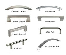 Knob Handle Kitchen/Bath Cabinet Hardware Brushed Silver Modern Square Bar Pull
