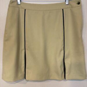 EP Golf Skort Size 12 Tan Front Pleat