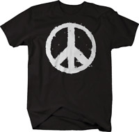 Distressed Vintage Peace Sign Tshirt
