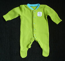 Baby clothes BOY premature/small<7lbs/3.2kg TU bright green/turquoise babygrow