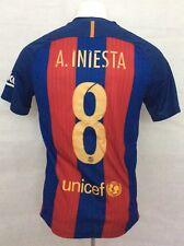 Barcelona Football Shirt 2016/17 Home Iniesta #8 (Excellent) S Soccer Jersey Top