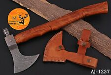 Hand Forged Damascus Steel Axe With Rose Wood Handle - Aj 1237