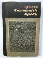 African Communists Speak. South Africa Communism Socialism Black Political Book