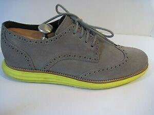 Cole Haan  Lunargrand Wingtip Gray Suede Oxford Shoes Size 12