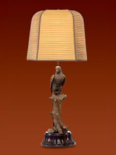 French Bronze Parrot Lamp