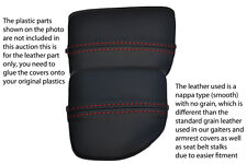 red stitch FITS MAZDA MX5 MK2 01-05 MIATA CENTRE CONSOLE CUP HOLDER COVER SKIN