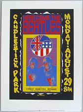 1966 Beatles Candlestick Park Authorized Reproduction Litho Poster Artist Proof