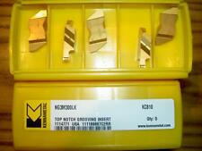 x5 KENNAMETAL NG3M300LK KC810 3MM WIDE TOP NOTCH GROOVING PARTING INSERTS NEW