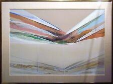 "Elba Alvarez ""Mistral"" Signed Numbered Hand Textured Serigraph Art Print, framed"