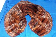 Vintage Fox Fur Stole Collar Mod Hippie Old Neck Scarf Shoulder Wrap Steampunk