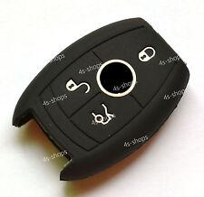 Black Soft Silicone Case Cover Holder For Benz C300 E350 Smart Remote Key Fob