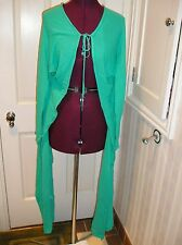 NWOT VICTORIA'S SECRET MODA XS or S Aqua Green Long Sleeve Cardigan Sweater