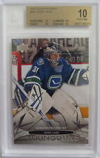 (HCW) 2013-14 Upper Deck EDDIE LACK BGS 10 Young Guns YG RC Vancouver Canucks