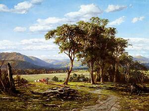 Louis Buvelot - At Lilydale, Australian Art, Museum Art Poster, Canvas Print