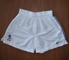 Nike Italy Federazione Italiana Vintage White Soccer Shorts sz Youth XL 164-176