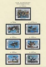 NEW HAMPSHIRE HUNTING PERMIT STAMPS 1983-1997 CV $366 BS6397