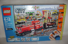 NEW 3677 Lego CITY Red Cargo Train Tracks POWER FUNCTIONS Building Toy RETIRED A