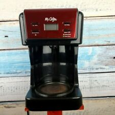 Mr. Coffee Programmable Coffee Maker Red/Black Color Auto Pause USA Seller