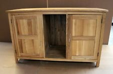 Damaged Solid Oak 130cm x 55cm Sideboard Vanity Cabinet Cupboard TV Cabinet