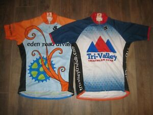 2-Lot of Champ-Sys Women's Cycling Jerseys L Bike Bicycle Running Ladies System
