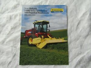 New Holland H8040 H8060 H8080 windrower brochure