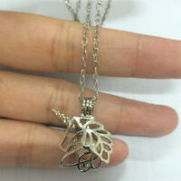 Glow in The Dark Unicorn Oyster Pearl Cage Pendant Chain Necklace Jewelery Gift