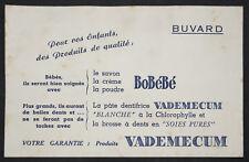 BUVARD PUBLICITAIRE ANCIEN : PRODUITS POUR BEBES BOBÉBÉ VADEMECUM