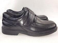 Good Fellas Big Kids Boys Casual Hook and Loop Shoes, Black Size 7