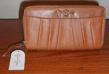 JESSICA SIMPSON SUNTAN PATTY DOUBLE ZIP AROUND CLUTCH/WALLET-JS9951-BNWT